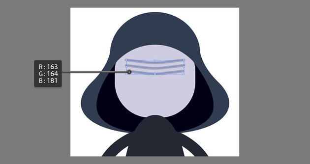 Creating the mask details using the Pen Tool