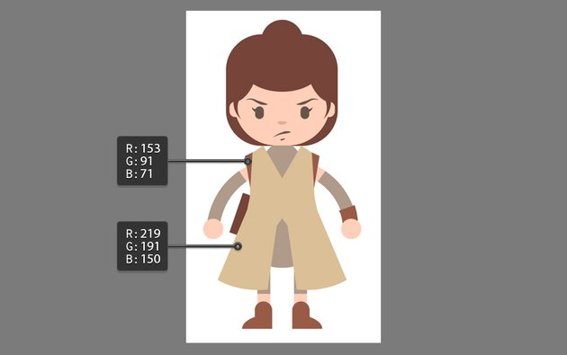 Creating the outfit using the Pen Tool