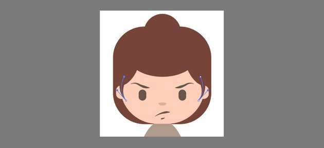 Creating the sideburns using the Pen Tool