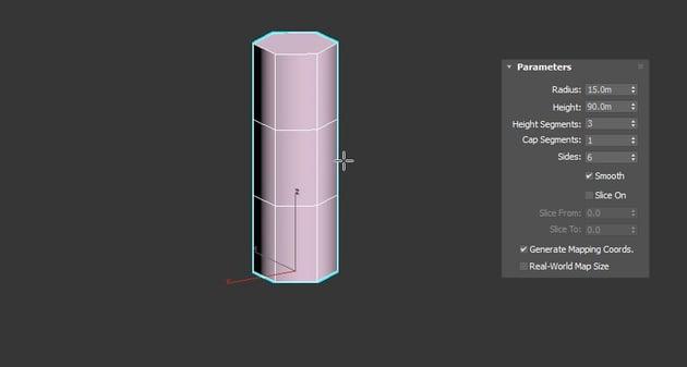 Adjust the Cylinder parameters