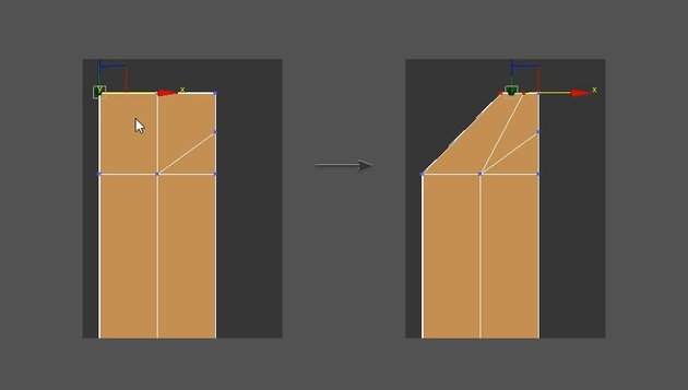 Adjust the vertices