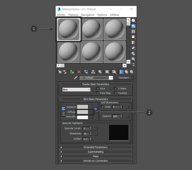 Select the Diffuse