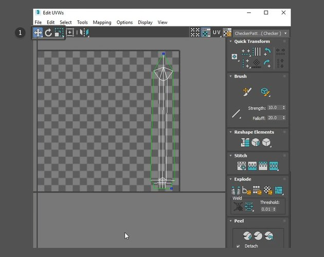 Edit the UVs in the UV Editor