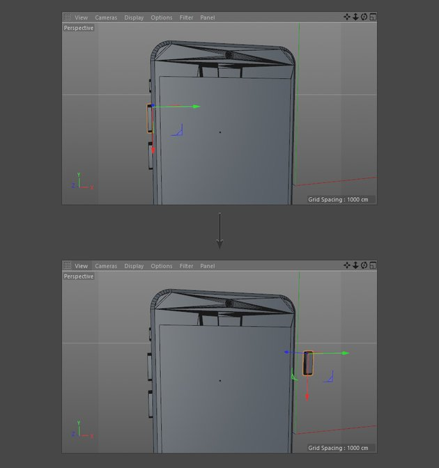 Duplicate and place the iPhone buttons