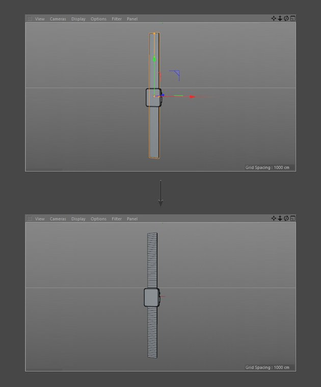 Add segments to watch strap
