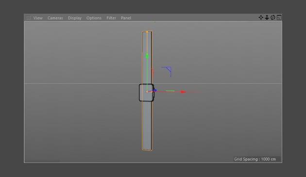 Adjust cube to make strap shape