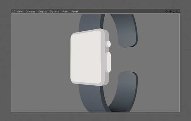 Adjusted material shown on watch