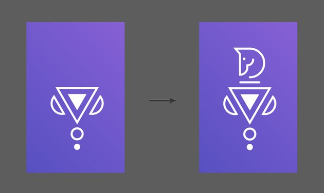 Add the horse head to create the final Knight Icon