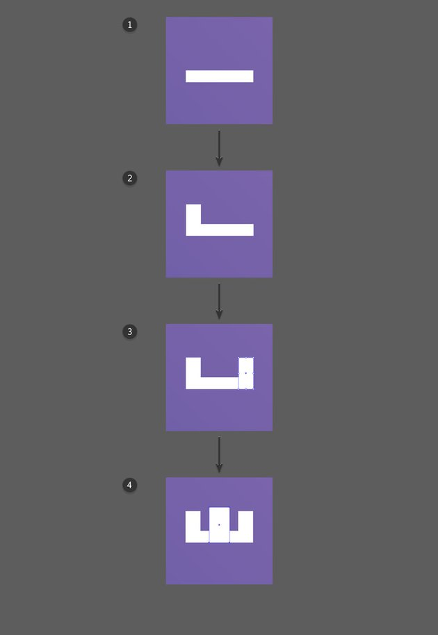 Use the Rectangle Tool to create the Rook Icon
