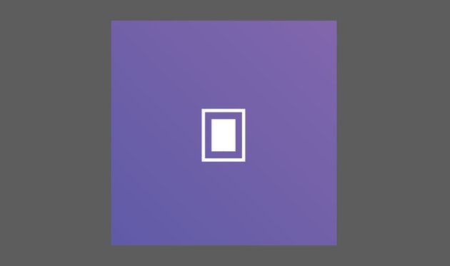 Create a larger rectangle and set it to stroke