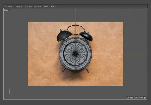 Adjust the bell using the Move and Rotate tools