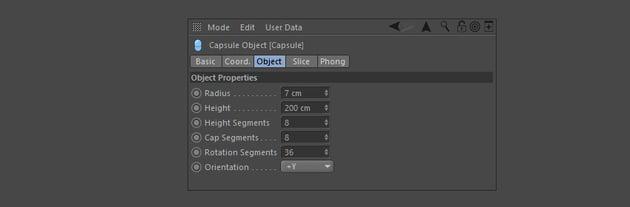 Adjust the capsule leg properties