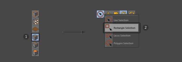 Select the Points Tool and the Rectangle Selection Tool
