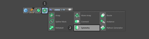 Select the Symmetry button
