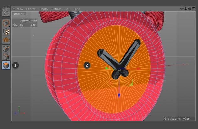 Highlight polygons on clock face