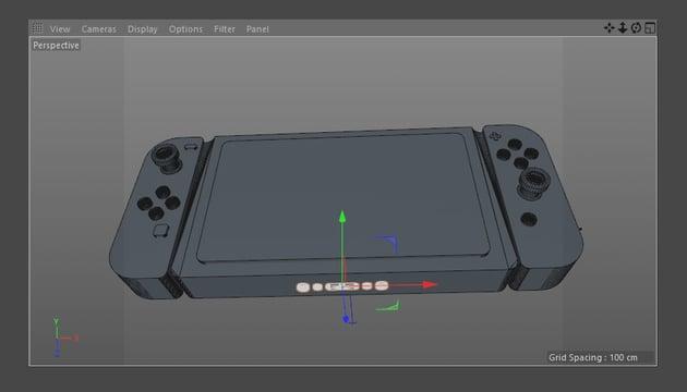 Final Nintendo Switch model in 3D