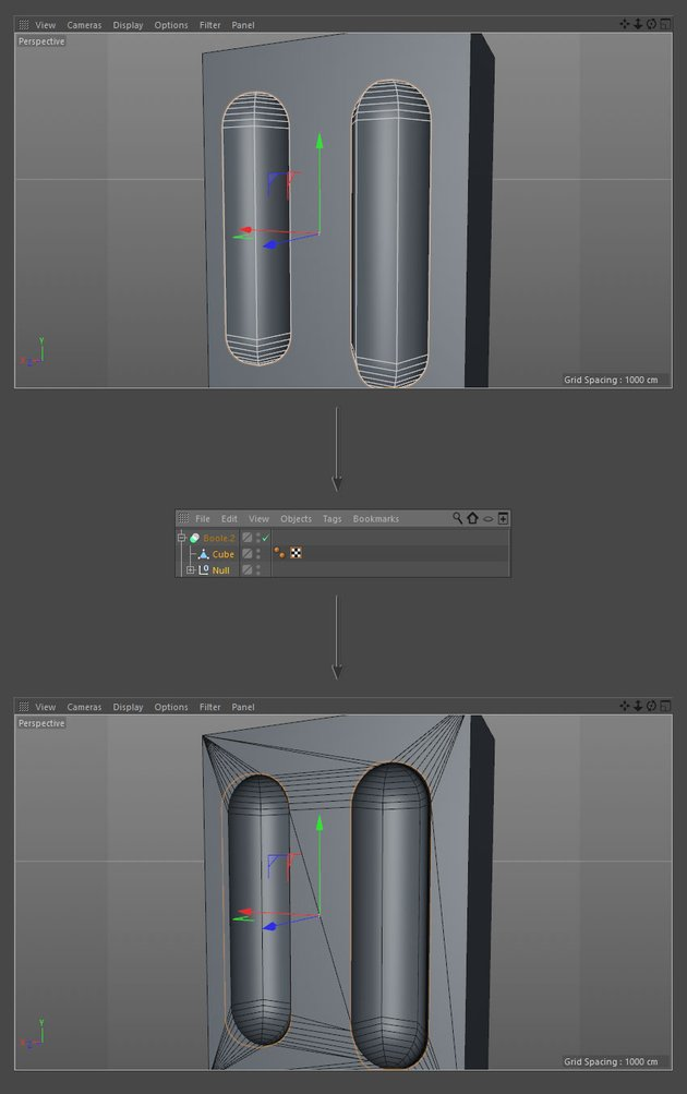 Create capsule cutouts