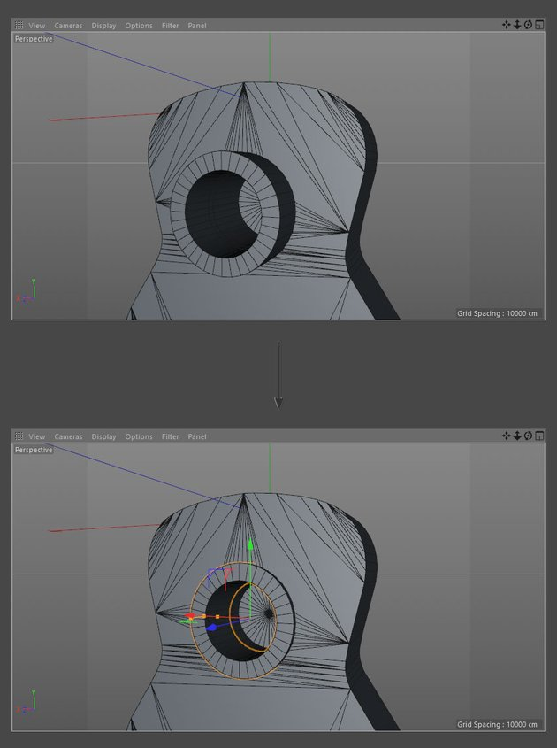 Move tube into position