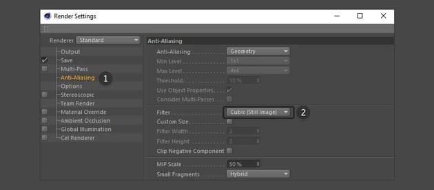 Adjust anti-aliasing options