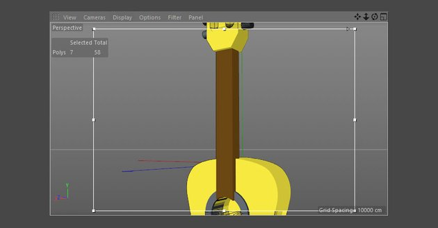 Apply new material to the neck of the guitar