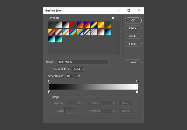 Photoshop Gradient Editor