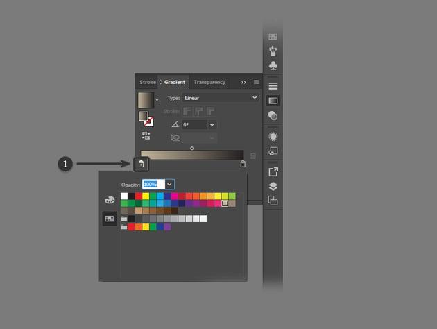 Define color for gradient
