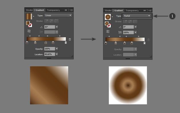 Change gradient type