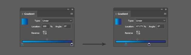 Adjust the location of the color stops