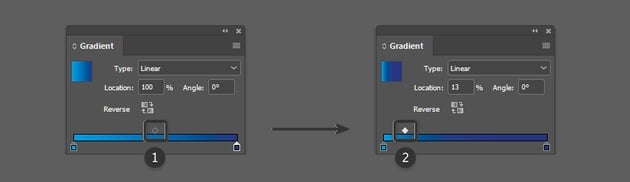Adjust the midpoint of the gradient