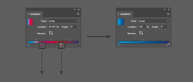 Remove color stops from gradient