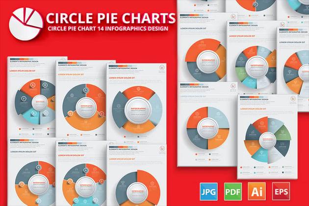 Circle Pie Chart Infographic Elements Design