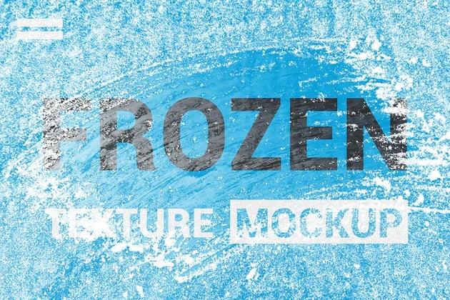 Ice Frozen Texture Mockup