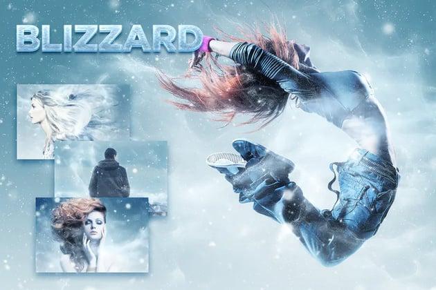 Blizzard Photoshop Action CS3
