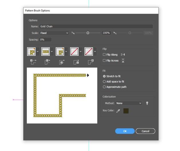 Create new pattern brush