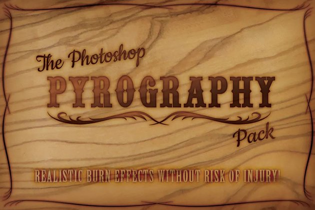 pyrography effect