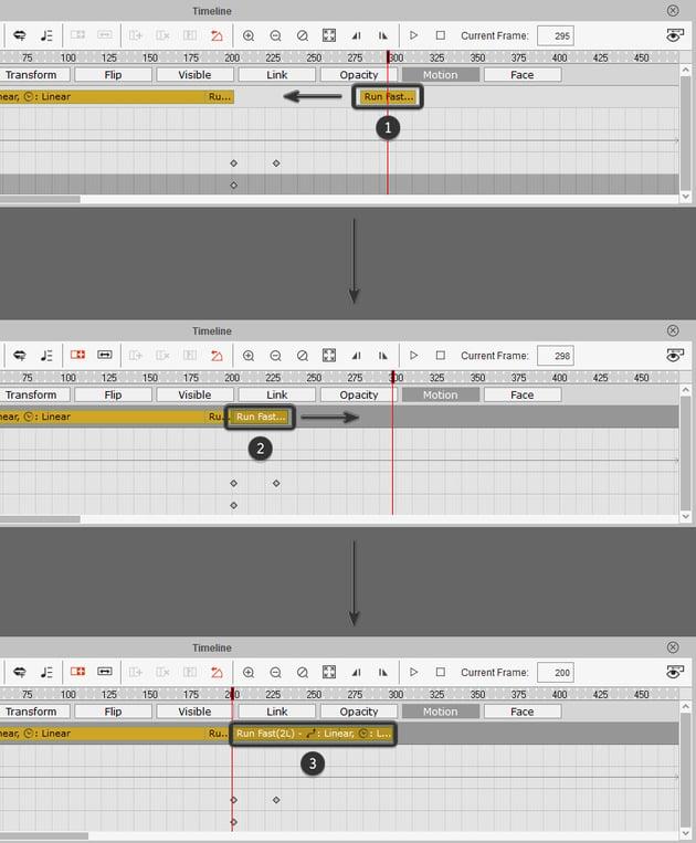 adjust the run timeline