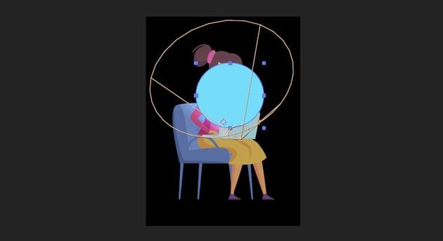 create a blue circle