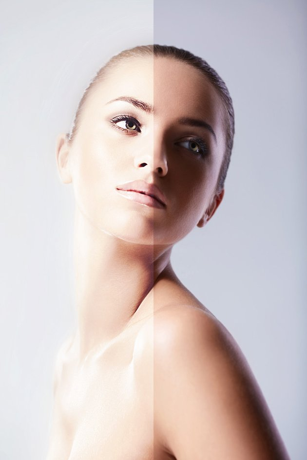 before and after soft focus 3