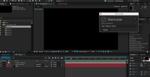Shortcutter - The Ultimate AE Timesaver