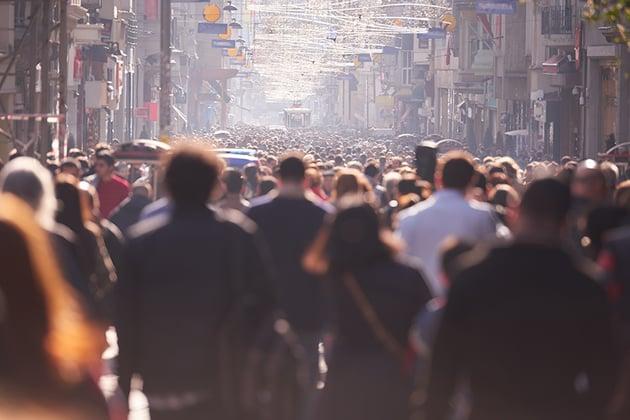 Crowd Walking on Street