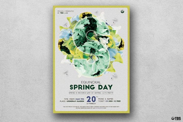 Spring Day Flyer Template for Adobe Photoshop