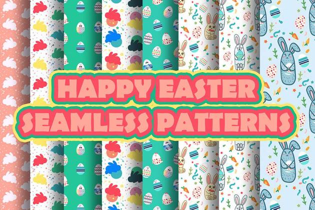 Happy Easter Patterns for Illustrator