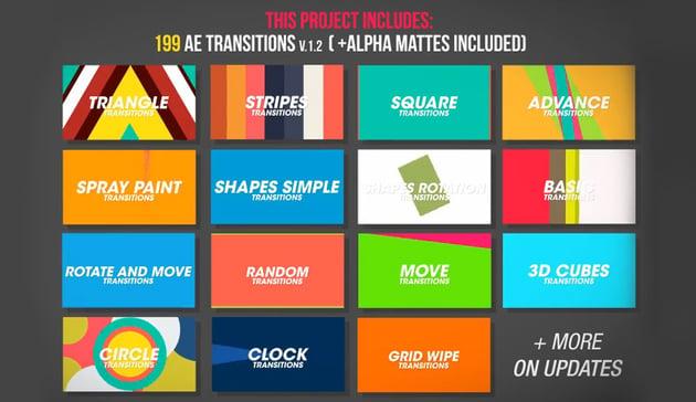 199 Transitions Pack v12