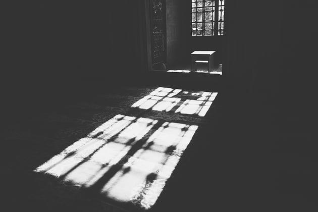 Interior of old Mosque in Edirne Turkey