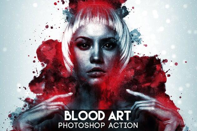 Blood Art Photoshop Action
