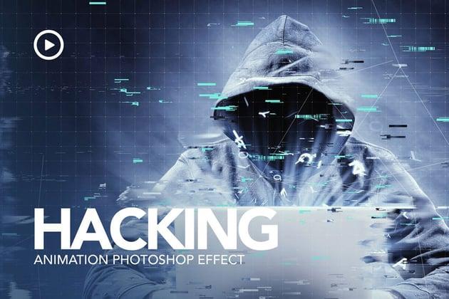 Hacking Animation Photoshop Action