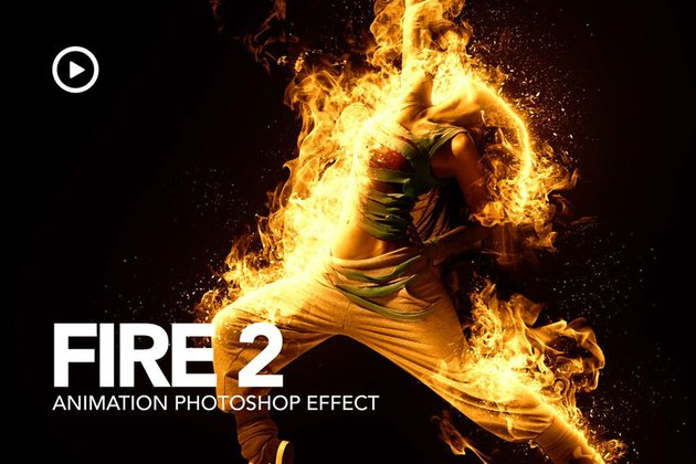 Fire Animation Photoshop Action version 2