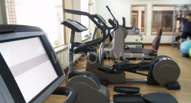Fitness Center With Exercise Machines