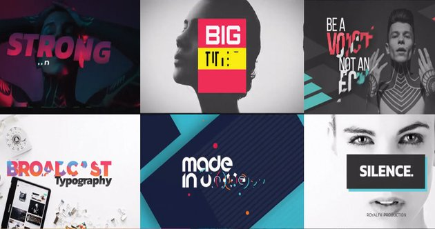 TypeX - Text Animation Tool  Broadcast Pack Modern Colorful Typography Titles