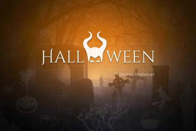 Devilishly Cool Halloween PSD Brushes